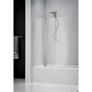 Get Wet by Sealskin S205 badklapwand 2-delig 100x150 cm mat zilver helder glas