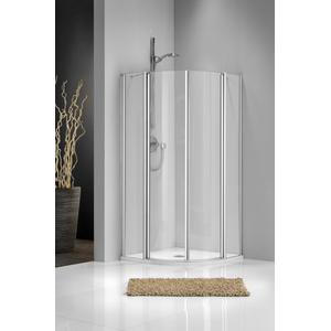 Get Wet by Sealskin C205 Douchecabine Kwartrond met schuifdeur 80x80x195cm Mat zilver/Chinchilla glas