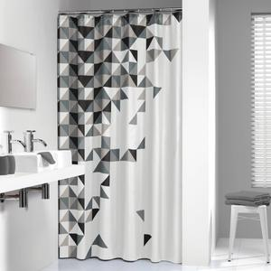 Sealskin Douchegordijn Textiel Tangram 200 x 180cm Zwart