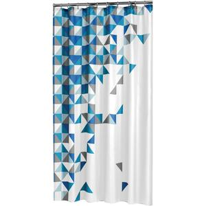 Sealskin Douchegordijn Textiel Tangram 200 x 180cm Blauw