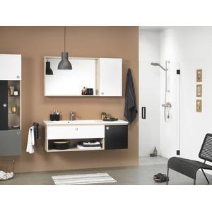 Get Wet by Sealskin I am Draaideur 70x200cm Mat zwart/Helder glas
