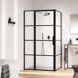 Sealskin SOHO Douchecabine 100x100x210cm Charcoal/Helder Glas