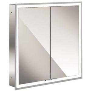 Emco Asis Prime inbouwspiegelkast 630x730 mm met LED witglas