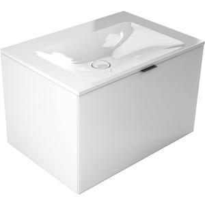 Emco asis monolith wastafel zonder kraangat met schuiflade ,717mm, Wit