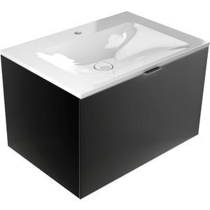 Emco asis monolith wastafel met kraangat met schuiflade ,717mm, Zwart