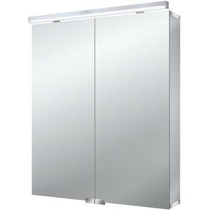 Emco Asis Flat spiegelkast 60 cm. met 2 deuren en led rondom Aluminium