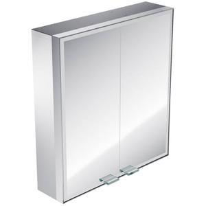 Emco Asis Prestige inb.spiegelkast 101.5cm.brede deur re.+bluetooth Aluminium
