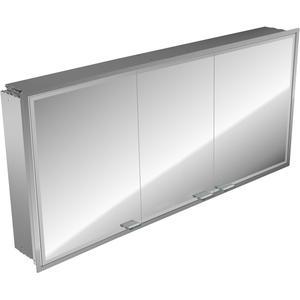 Emco Asis Prestige inbouw spiegelkast 161.5 cm. zonder radio Aluminium