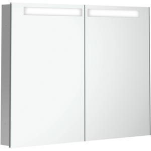 Villeroy & Boch My View In inbouw spiegelkast 80 cm 2xdeur+led+vergr.spiegel