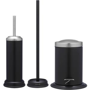 Sealskin Acero toilet accessoireset 3-in-1 zwart