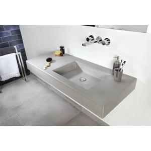 Ben Titan wastafelblad beton met 1 bak rechts 100x51,5x12cm grijs
