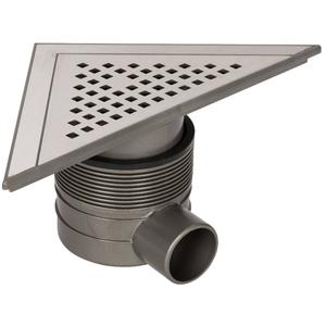 Ben Q-Drain Triangle Put 22.3X22.3X31.4 Rooster Geb.Rvs Waterslot 50Mm