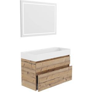 Primabad Blend Badkamermeubelset 102x45 cm Concrete Grey