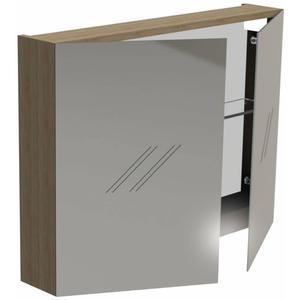 Thebalux Basic Wastafelbovenkast 80x13,5x60 cm Wit Acryl hoogglans