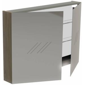 Thebalux Basic Spiegelkast 70x100x13,5 cm Nebraska Eiken