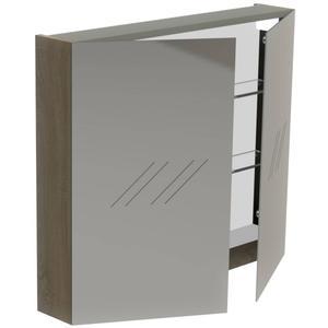 Thebalux Basic Spiegelkast 70x80x13,5 cm Wit Glans