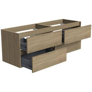 Thebalux Beat 2.0 Wastafelonderkast 140x45x50 cm Natural Oak