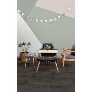 Vloertegel Terratinta Betonstil 60x60x0,95 cm Concrete Dark 1,08M2