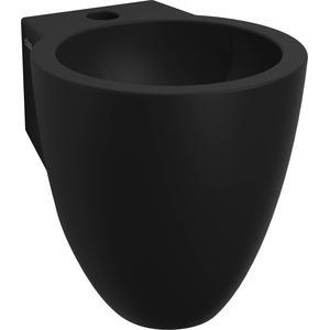 Clou Flush 6 Fontein met kraangat 27x31,5x28 cm Mat Zwart