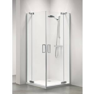 Get Wet by Sealskin Custom Douchecabine Hoekinstap met draaideur 100x195cm Zilver hoogglans/Helder glas