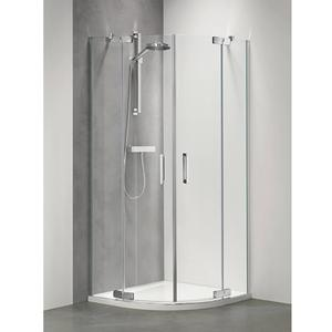Get Wet by Sealskin Custom Douchecabine Kwartrond met draaideur 100x195cm Zilver hoogglans/Helder glas