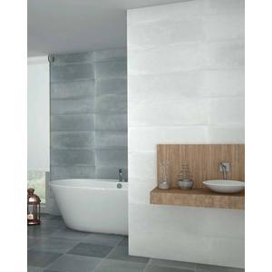 Wandtegel Myr Concret 25x75x- cm Wit 1,13M2