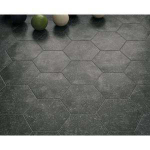 Vloertegel Equipe Coralstone 25x29x1 cm Zwart 0,5M2
