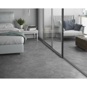 Vloertegel Equipe Coralstone 25x29x1 cm Grijs 0,5M2
