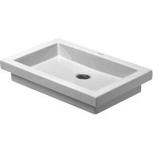 Duravit 2nd Floor opbouw wastafel 58x41,5 zonder overloop WonderGliss wit