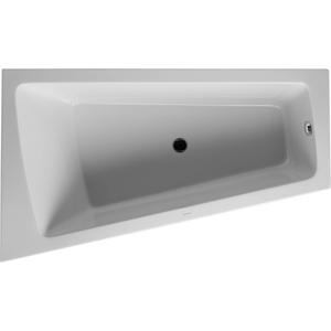 Duravit Paiova bad afgeschuind 170x100x46cm links met aangevormd paneel en frame Wit