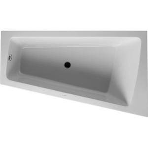 Duravit Paiova bad afgeschuind 170x100x46cm rechts met aangevormd paneel en frame Wit