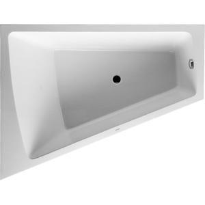 Duravit Paiova bad afgeschuind 170x130x46cm links met aangevormd paneel en frame wit