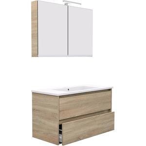Primabad Dreamz Badkamermeubelset 102,5x47 cm Authentic Oak Brown