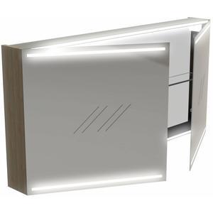 Thebalux Deluxe Wastafelbovenkast 120x13,5x60 cm Eiken antraciet