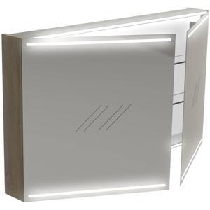 Thebalux Deluxe Spiegelkast 70x120x13,5 cm Wit Glans