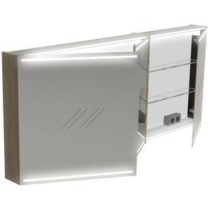 Thebalux Deluxe Spiegelkast 70x160x13,5 cm Wit Glans