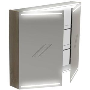 Thebalux Deluxe Spiegelkast 70x80x13,5 cm Wit Glans