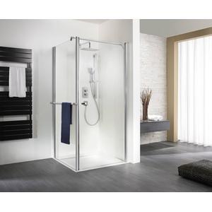 HSK Exklusiv Douchedeur voor verkorte zijwand 100x200 cm Alu zilver mat / Helder Glas