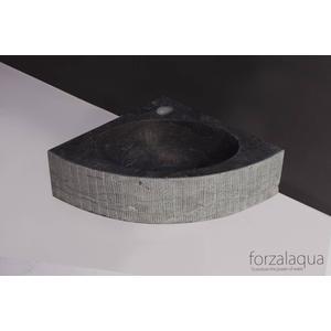 Forzalaqua Turino fontein 30x30 cm hardsteen gefrijnd grijs