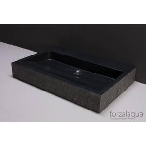 Forzalaqua Palermo wastafel 80,5x51,5x9cm zonder kraangat Graniet Gezoet Gebrand