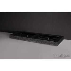 Forzalaqua Palermo Doppio wastafel 140,5x51,5x9cm Graniet gekapt