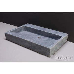 Forzalaqua Palermo wastafel 60x40x9cm Cloudy marmer gezoet