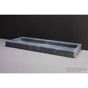 Forzalaqua Palermo wastafel 120,5x51,5x9cm Cloudy marmer gezoet