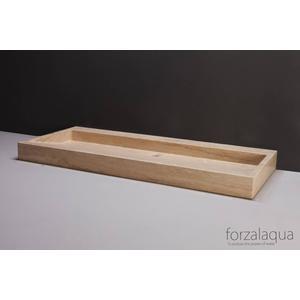 Forzalaqua Palermo wastafel 120,5x51,5x9cm Travertin gezoet