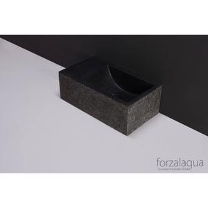 Forzalaqua Venetia XS fontein 29x16x10 cm Graniet gebrand
