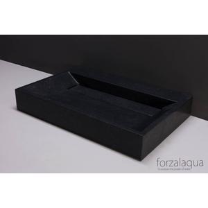 Forzalaqua Bellezza wastafel 80,5x51,5x9cm Graniet gezoet