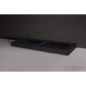 Forzalaqua Bellezza Doppio Wastafel 160,5x51,5x9 cm 0 krg Graniet Gezoet