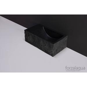Forzalaqua Venetia XS Fontein Rechts 29x16x10 cm 1 kraangat Graniet Gekapt