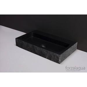 Forzalaqua Taranto wastafel 50x30x8cm 1 kraangat Graniet Gekapt