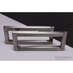 Forzalaqua Beugelset 51x16x3 cm Rvs geborsteld